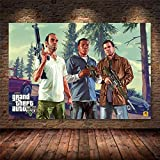 xiangpiaopiao Grand Theft Auto V Videospiel GTA 5 Druck