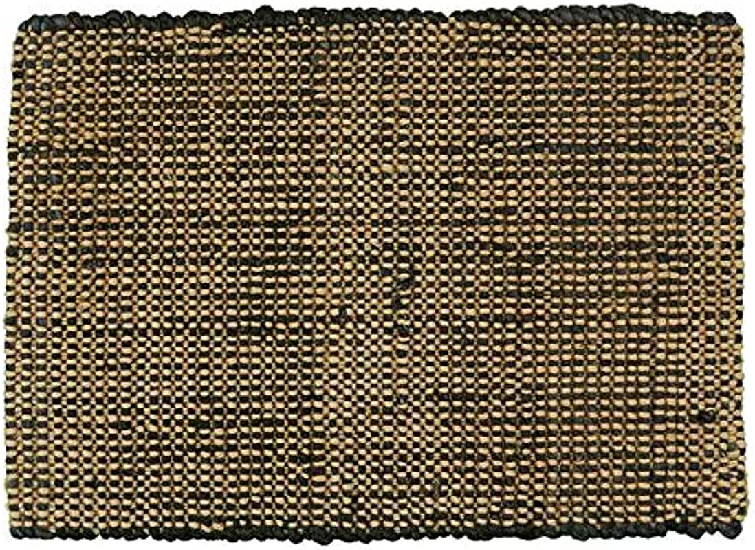 Park Designs Jute Boucle Placemat Black Set Of 2