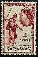 Kayan Dancing, Sarawak -Handmade Framed Postage Stamp Art 20515AM