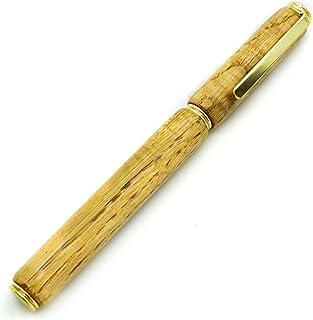 BRIZO - Penna stilografica realizzata a mano, in legno di rovere di una vecchia botte. Made In Italy. Con custodia in legn...