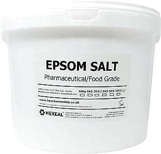Hexeal EPSOM SALT | 10KG BUCKET | 100% Pharmaceutical | FCC