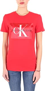 CALVIN KLEIN Jeans Women's Monogram Box Logo Straight Fit Tee