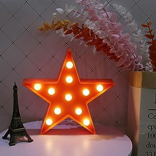 GUOCHENG Veilleuse LED en forme d'étoile fonctionnant à piles - Lampe de table décorative pour chambre de bébé, enfant, cr...