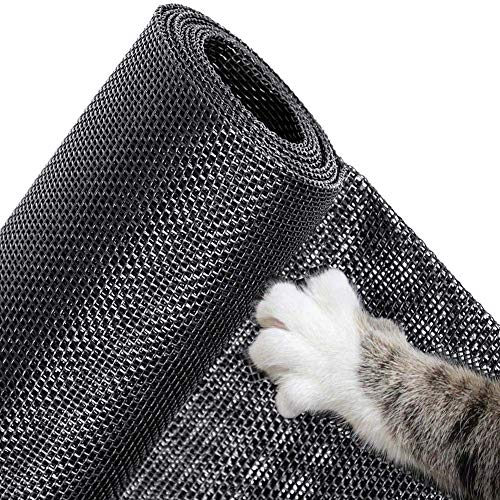 YINN Reißfeste Katzenschutzgitter Katzennetz,Stabiles Fliegengitter Fenstergitter für Katzen,Selbstklebendes Katzensicher Fensternetz,Durchscheinend,ohne Bohren
