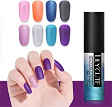 LILYCUTE Matte Gel Polish Soak Off Glitter Pearl Nail Art Gel Varnish Long Lasting UV Gel Manicure 5ml 8 Colors