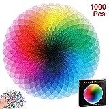 1000pcs / Set Resplandor Degradado Rompecabezas, Colorido Redondo Geométrico Círculo Rompecabezas...