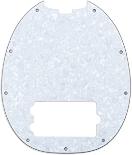 Best Musiclily 9 Hole Bass Pickguard for MusicMan MM StingRay 4 String Bass Guitar,4Ply White Pearl Reviews