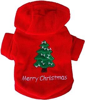 RUNGAO Adornos de Navidad para mascotas, ropa cálida para perro, ideal para festivales,