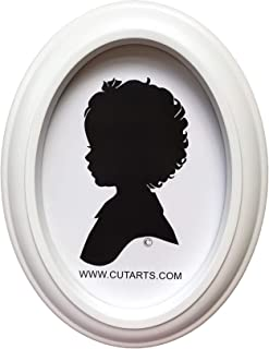 White Oval 5x7 Picture Frame