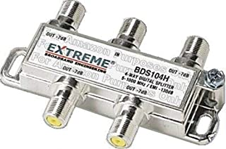 Extreme Broadband Manufacturing BDS104H 4 Way HD Digital High Performance Coax Cable Splitter