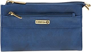 ESBEDA Blue Solid Pu Synthetic Material Wallet For Women