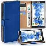 MoEx Premium Book-Hülle Handytasche passend für Samsung Galaxy Note 3 Neo   Handyhülle mit Kartenfach & Ständer - 360 Grad Schutz Handy Tasche, Dunkel-Blau