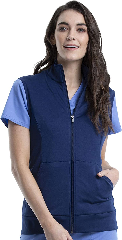 Workwear Revolution Women Scrubs Vest Zip Front Knit WW521