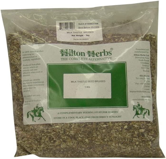 Milk Thistle Seed Bruised Hilton Horse Herbal Herbs Max 85% OFF Direct stock discount Nutrition