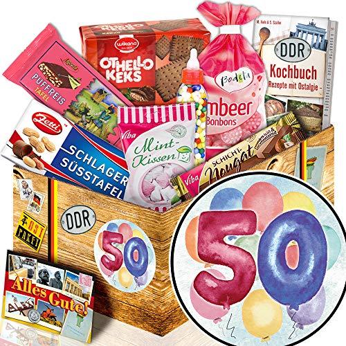 50. Geburtstag / DDR Suessigkeiten-Box / 50. Geburtstag Geschenkidee