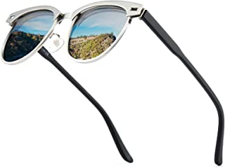 Cyxus Polarized Sunglasses Unisex, Polarized Sunglasses for Women Men with Mirror Lens Oversized Metal Frame Retro TAC Len...