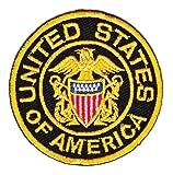 Aufnäher Bügelbild Aufbügler Iron on Patches Applikation USA United States