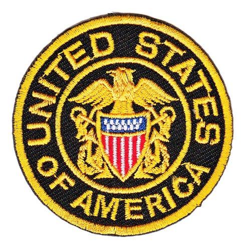 Aufnäher Bügelbild Aufbügler Iron on Patches Applikation USA United States of America Abzeichen