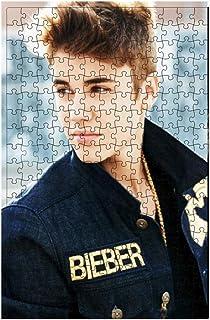El Muchacho Hermoso Justin Bieber al Lado de Madera-Adulto Rompecabezas del Mosaico 520/1000 Piezas-Dar la Pintura Mejor Regalo for la decoración ( Size : 300pcs )