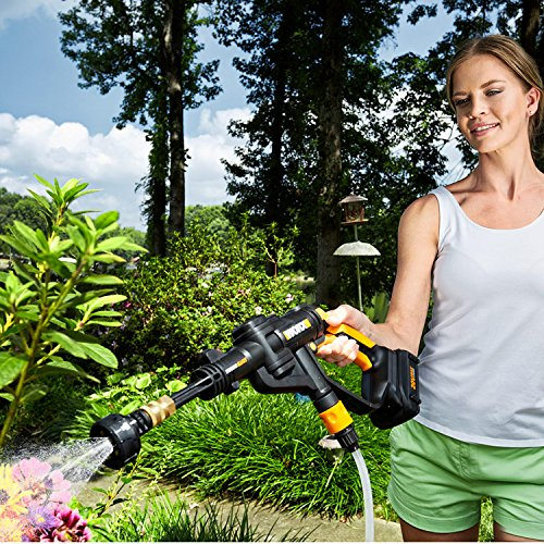 WORX WG629.1 Hydroshot 20V PowerShare 2.0 Ah 320 PSI Cordless Portable Power Cleaner with Accessories