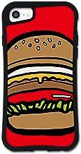 iPhone SE 第2世代 ケース iPhone8 ケース iPhone7ケース どこでもくっつくケース WAYLLY(ウェイリー) iPhone6sケース iPhone6ケース 着せ替え 耐衝撃 米軍MIL規格 [ポップフード ハンバーガー...