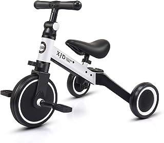 XJD 3 در 1 چرخه کودکان و نوجوانان به مدت 10-24 ماه کودکان و نوجوانان Trike 3 چرخ های پسرانه دوچرخه دختران 3 چرخ های سه چرخه کودک نو پا به روز رسانی 2.0
