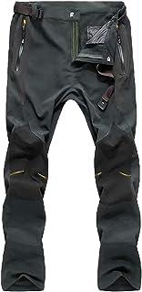 شلوار پیاده روی زمستانی مردانه MAGCOMSEN 4 جیب زیپ مقاوم در برابر آب شلوار اسکی باریک و ضخیم پشمی
