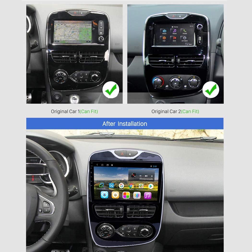 Buladala Android 8.1 Quad Core MP5 Player GPS Navegaci/ón para Renault Clio Digital//Analog 2016-2018 Soporte WiFi DVR USB FM Am//Radio de Coche est/éreo//Bluetooth Control del Volante