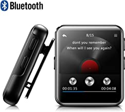 8GB Clip MP3 Player with Bluetooth, BENGJIE Portable Music Player with Headphones, HiFi Metal Audio Player with Voice Recorder,E-Book, 1.5 Inch Touch Screen Mini MP3 Player for Running, Black