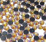 Perlin - Hotfix Strasssteine, 14400stk, Gold AB, 3mm SS10