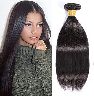 Brazilian Straight Hair, 8A Unprocessed Straight Human Hair 1 Bundle, Virgin Hair Straight Single Bundle(100g), Natural Color (10