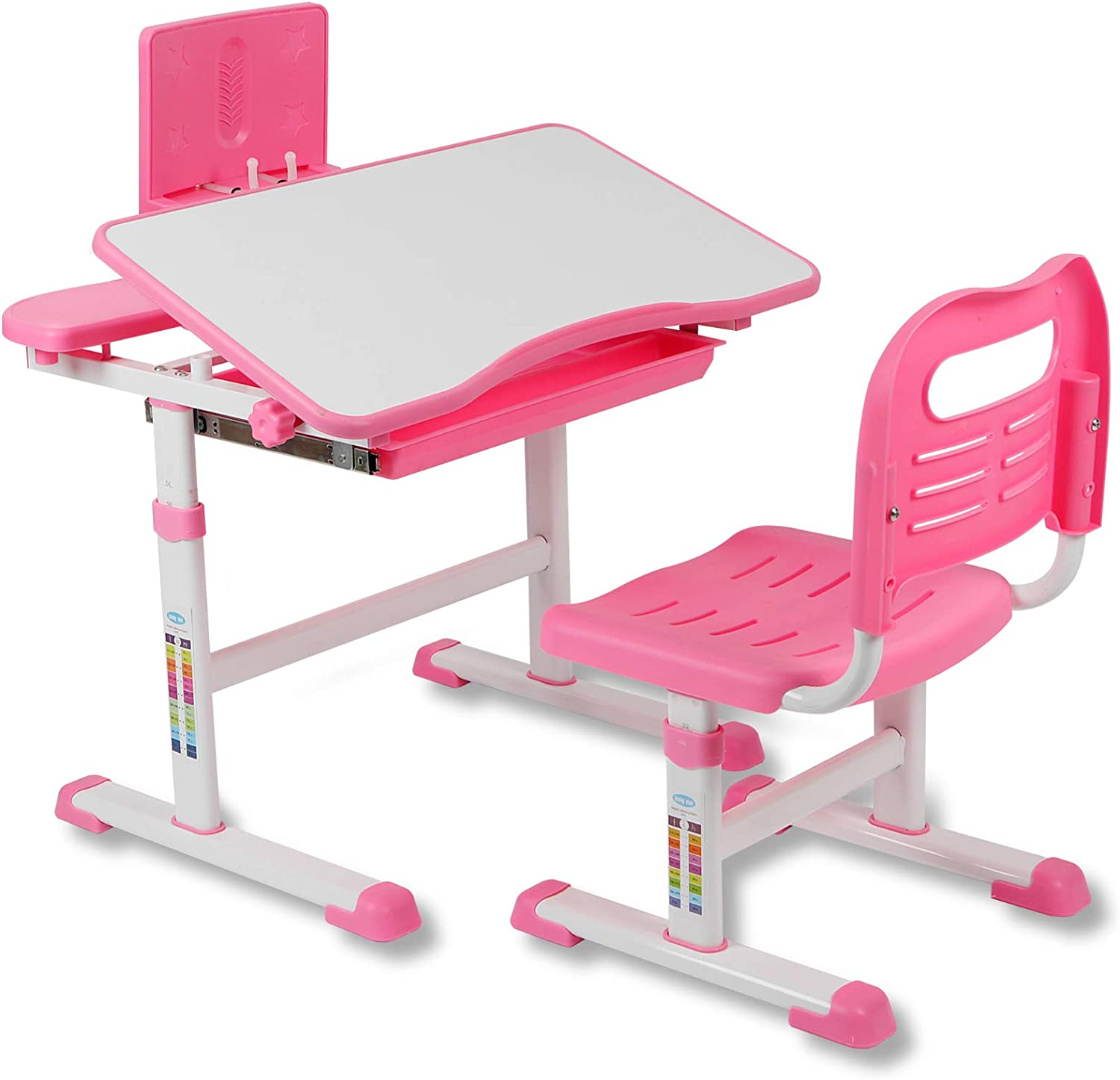 Functional Kids Desk and Chair Set Classic Adjustable Chil Height Sale special price School
