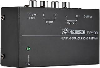 """Honeytecs Preamplificador de pré-amplificador Phono ultra compacto com interfaces RCA 1/4""""TRS"""