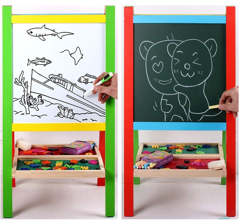 el mas de moda Tablero de dibujo para Niños Niños Niños Niños de pie en el tablero de caballete de arte con pizarra blancoa y pizarra Letras magnéticas Regalos para Niños pequeños Niño de 2 a 3 años y niña Tablero de dibujo de t  Garantía 100% de ajuste