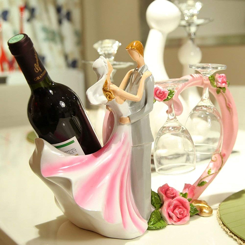 Utensilios de bar Botelleros IG Estante del Vino Estantes del Vino Resina Creativa Retro Decoración del gabinete del Vino Sala de Estar Cocina Restaurante Inicio práctico Estante del Vino