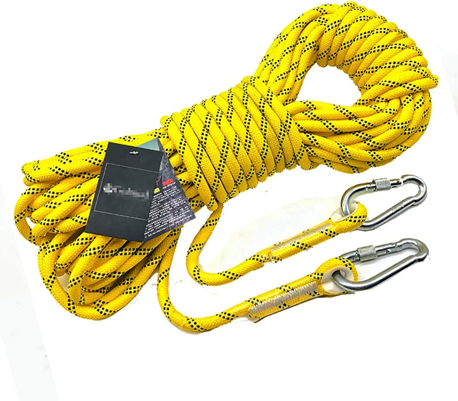 Climbing Rope Safe Rappelling Rope Wear Resistant Lifeline Suitable for Camping Rock Climbing 8mm in Diameter Yellow