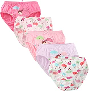 CHUNG Little Girls Toddlers Cotton Briefs Panties Underwear 5/6 Pack 2-7Y