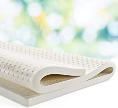 Giselle Bedding Double Size 5cm 7 Zone Pure Natural Latex Mattress Topper Pad Underlay Protector