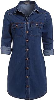 5611fe3b588071 Amazon.fr : Robe en jeans - Robes / Femme : Vêtements