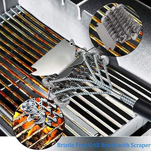 61q3ZJVnrFL. SL500  - LHD Safe Grill Brush - Borste Kostenlose BBQ Grill Cleaner/Scraper - 18 '' Edelstahl-Grill-Reinigungs-Wäscher Grill Zubehör for Clean All Grill Grates