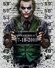 Journal: Bat Man Joker Harley Quinn Comics Art Smile Face Glossy Cover Writing Workbook for Teens & Children, Man, Boys Kids Adults Elementary, Journal Paper 7.5 x 9.25 Inches 110 Pages