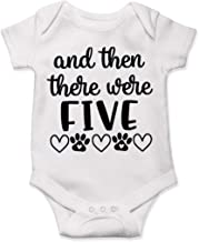 Lucky Star Pregnancy and Then There were Five, Baby Announcement Bodysuit