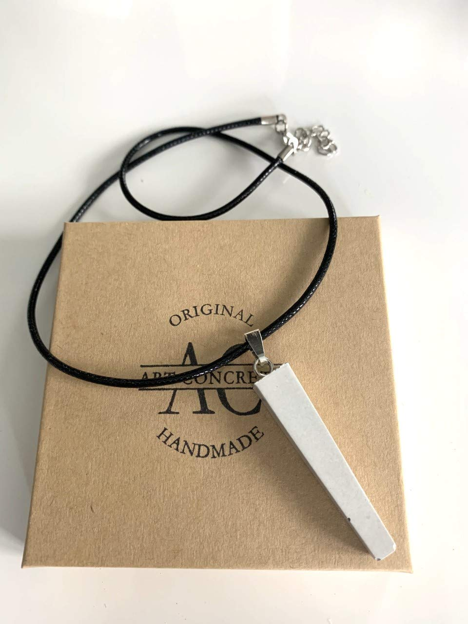 Handmade shopping Pendant Concrete Necklace In stock TRAPEZOID