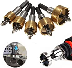 HOHXEN High Speed Steel HSS Drill Bit Hole Saw Stainless Steel Alloy Metal Alloy Milling Cutters Drill Bit 12-28mm with Wrenches