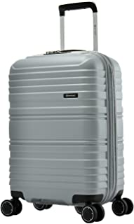 Eminent TPO - 55cm Expandable Suitcase Lightweight 3 Year Armour Warranty (Silver)