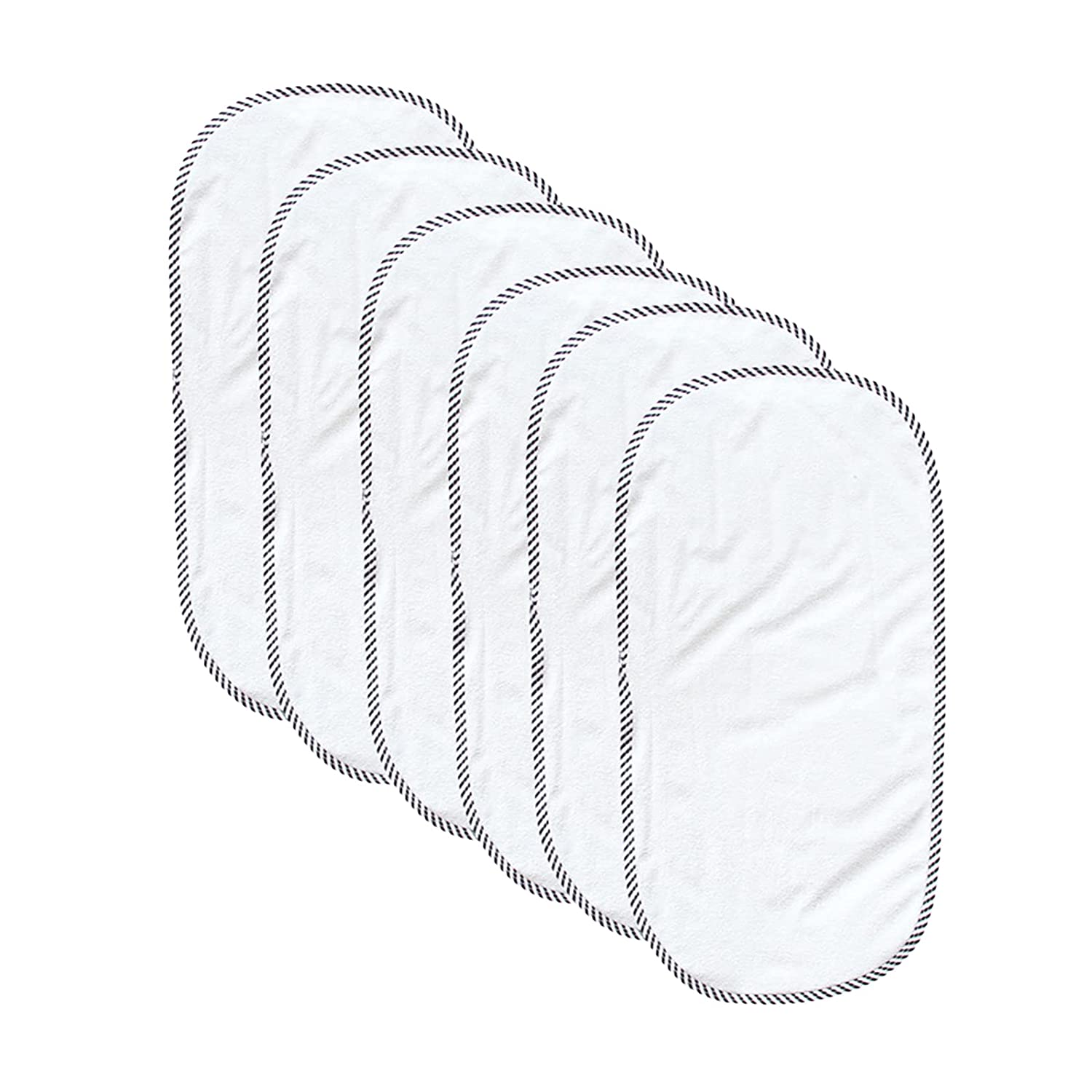 Owlike Bamboo Ultra Softer Waterproof Changing Table Cover Liners Reusable Changing Pad Liners 6pcs for Babies