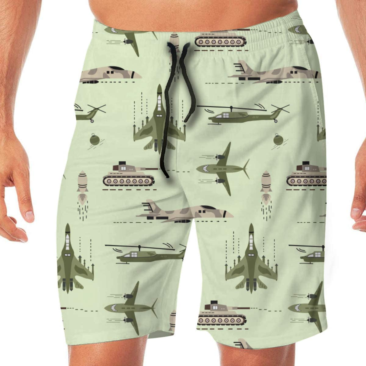 Fighter Jet Plane Icons Mens Swim Shorts Quick Funny Ranking TOP4 Dry Special price for a limited time Trunks