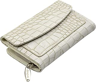Fashion Faux Crocodile Leather Women's Wallet and Clutch Card Holder Zipper Purse DONPUA