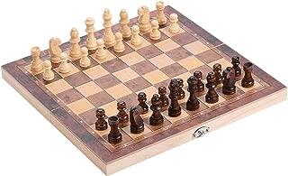 国際チェスセット玩具 木製チェス 携帯型 折りたたむボード ポータブル子供 旅行 家庭 娯楽 エンターテイメントゲーム プレゼント(29 x 29 cm)