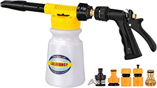 Lalafancy Car Foam Gun, Car Wash Sprayer with Adjustment Ratio Dial Foam Blaster Fit Garden Hose for Car Home Cleaning and Garden Use